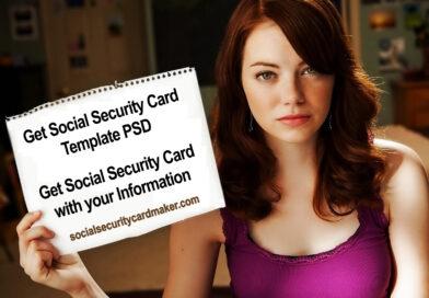 Social Security Card Template PSD USA SSN Template PSD Generator